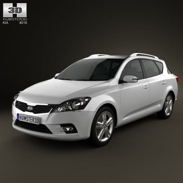 Kia Ceed SW 2011 - 3DOcean Item for Sale