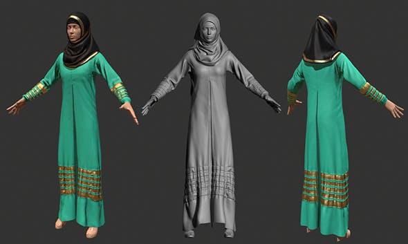 3D female Arabic Costume - 3DOcean Item for Sale