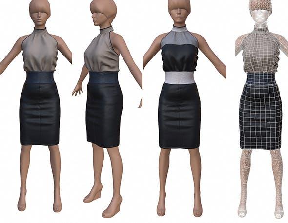 3D female dress - 3DOcean Item for Sale