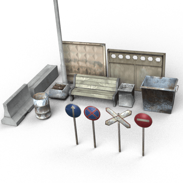 Urban Props Low-Poly Pack