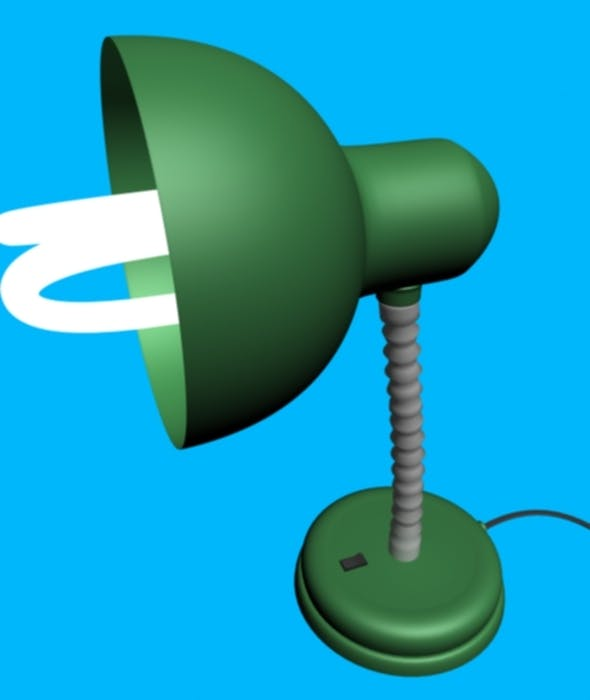 Green Floor Lamp - 3DOcean Item for Sale