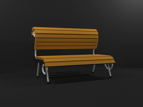 Low Poly Bench - 3DOcean Item for Sale