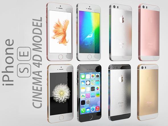 iPhone SE  - 3DOcean Item for Sale