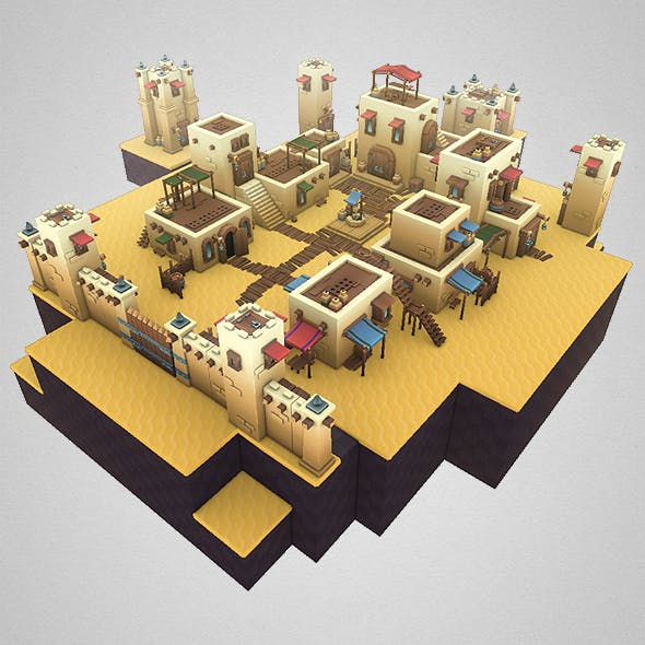 Desert Building Kit - Smashy Craft Series