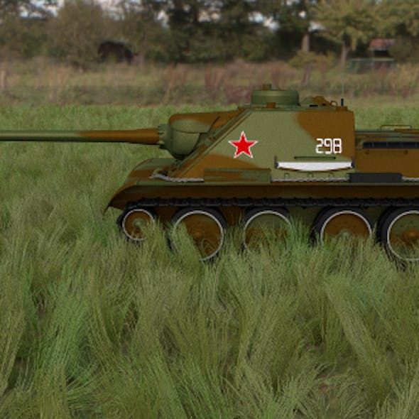 SU 100 Tank Destroyer HDRI Camo