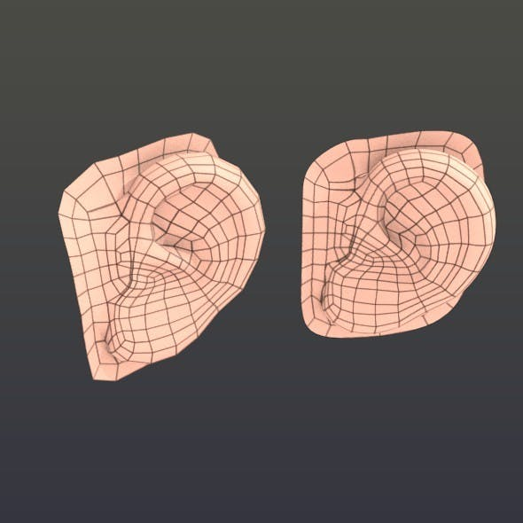 Low poly human ear - 3DOcean Item for Sale