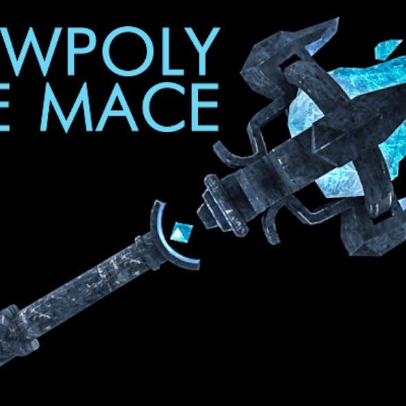 Lowpoly ice mace
