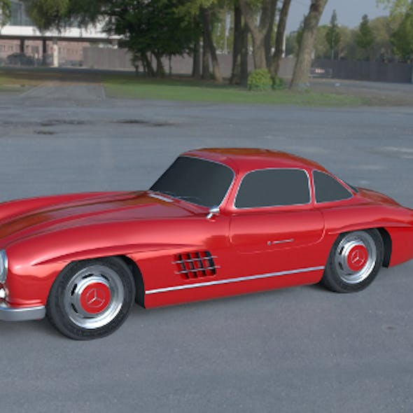 Rigged Mercedes 300SL W198 HDRI