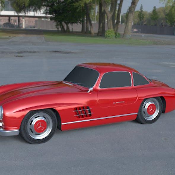 Rigged Mercedes 300SL W198 HDRI