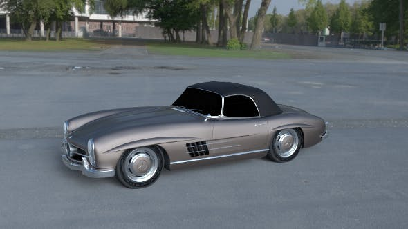 Mercedes 300SL Roadster Top Up HDRI - 3DOcean Item for Sale
