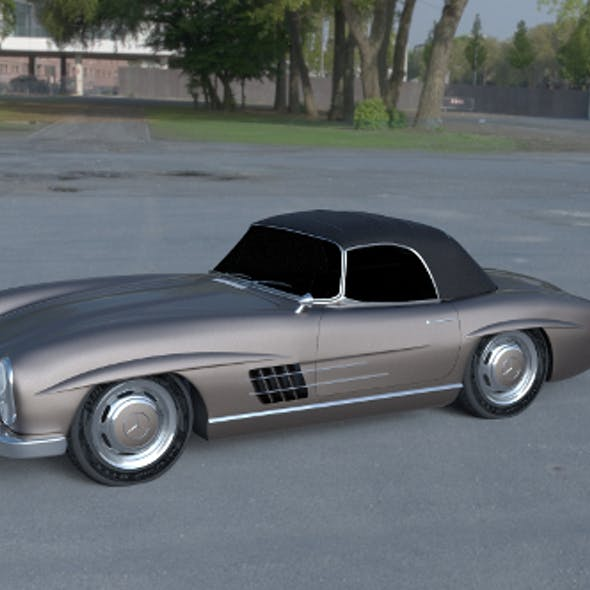 Mercedes 300SL Roadster Top Up HDRI