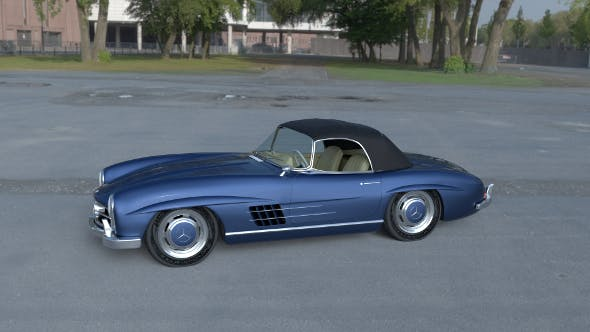 Mercedes 300SL Roadster Top HDRI - 3DOcean Item for Sale