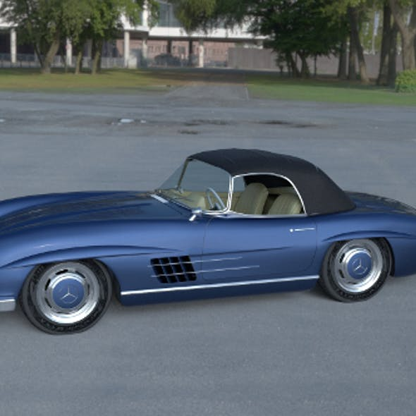 Mercedes 300SL Roadster Top HDRI