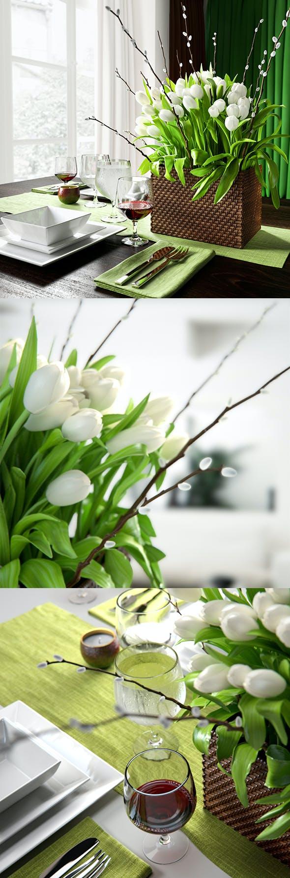 Tulip Centerpiece set - 3DOcean Item for Sale