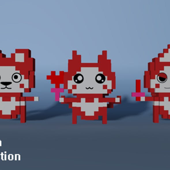 Figures Voxel Cat
