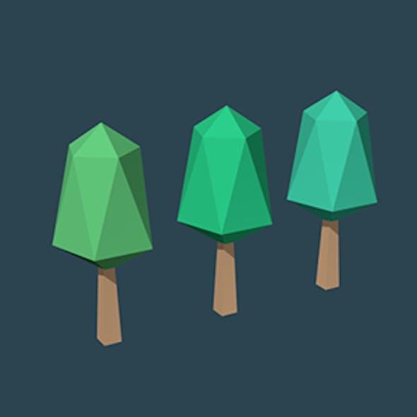 Low Poly Trees Set No. 1
