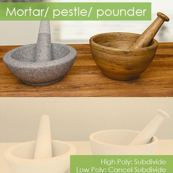 mortar/ pestle/ pounder
