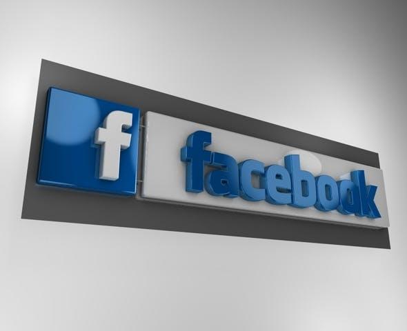 3D Facebook logo  - 3DOcean Item for Sale