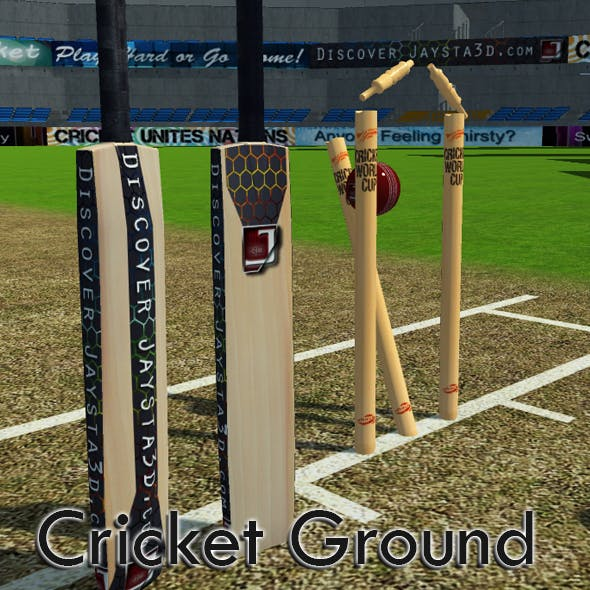 Cricket Ground - 3DOcean Item for Sale