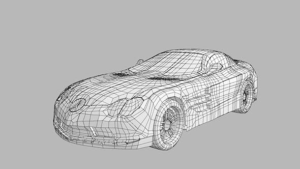 Mercedes Mclaren722 Low Poly Concept - 3DOcean Item for Sale