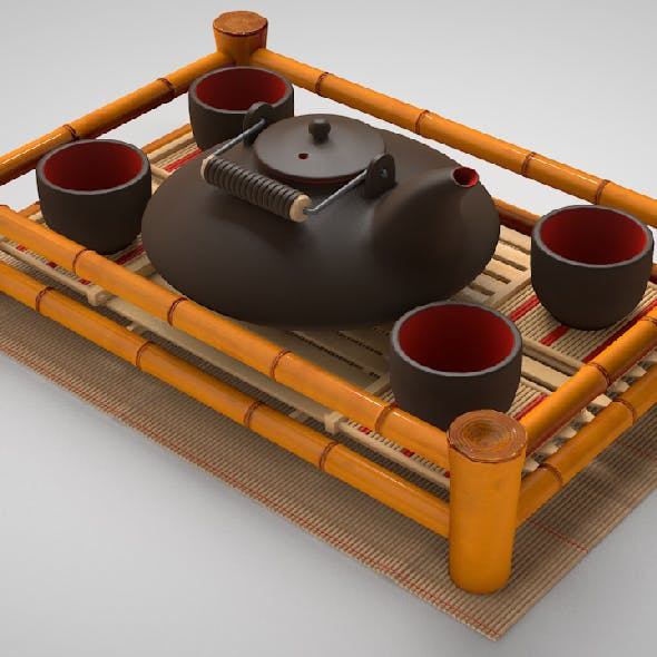 Set for tea ceremony
