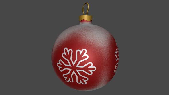 Low Poly Christmas Red Ball - 3DOcean Item for Sale