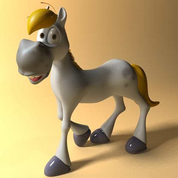 Cartoon horse RIGGED and Animated - 3DOcean Item for Sale