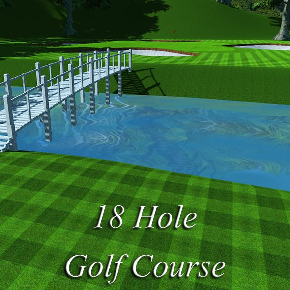 18 Hole Golf Course - 3DOcean Item for Sale