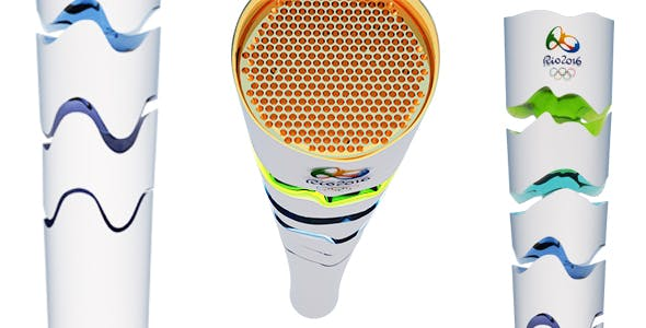 olympic torch RIO 2016 - 3DOcean Item for Sale