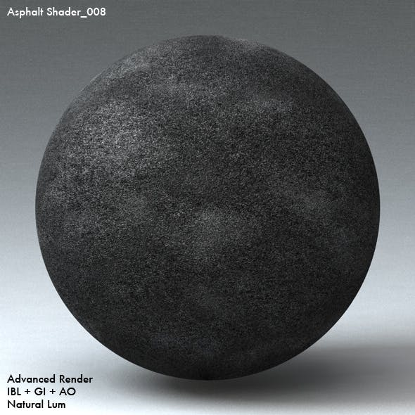 Asphalt Shader_008 - 3DOcean Item for Sale