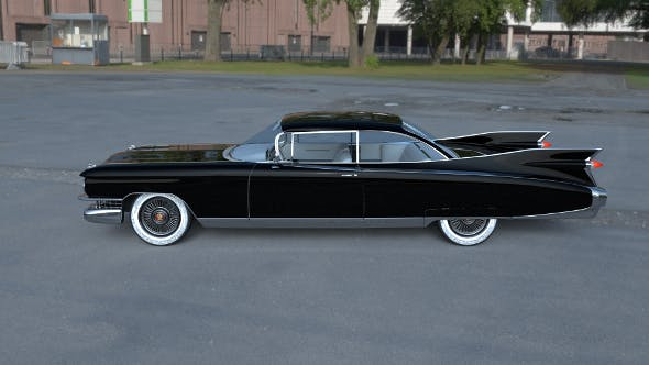 Cadillac Eldorado 1959 coupe HDRI - 3DOcean Item for Sale