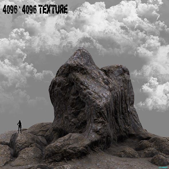 Mountain rock - 3DOcean Item for Sale