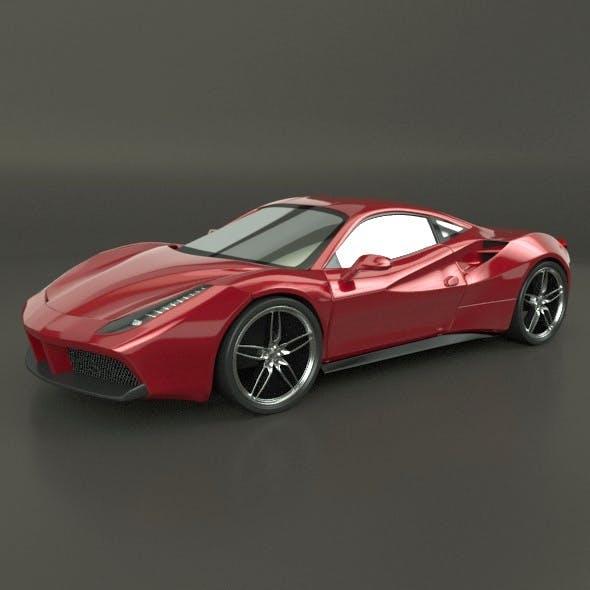 Ferrari 488 GTB restyled racing car - 3DOcean Item for Sale