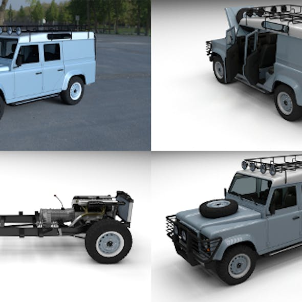 Land Rover Defender 110 Utility Station Wagon HDRI