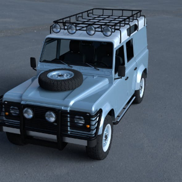 Land Rover Defender 110 Utility Station Wagon w interior HDRI