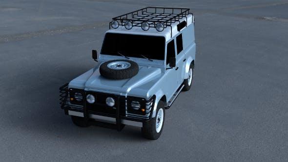 Land Rover Defender 110 Utility Station Wagon HDRI - 3DOcean Item for Sale