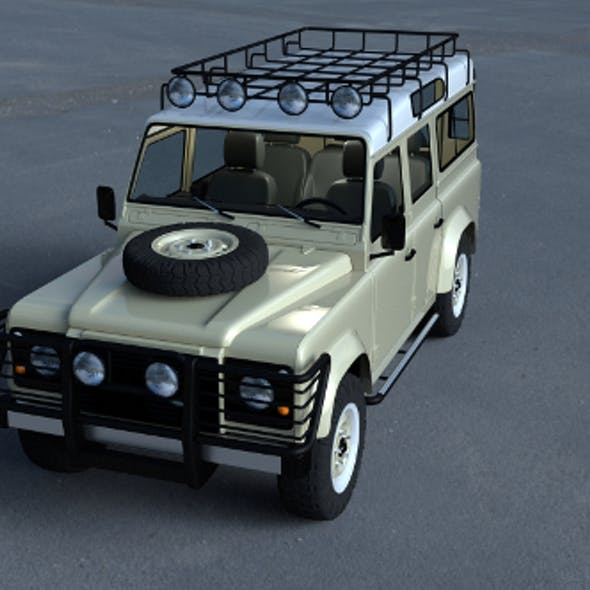 Land Rover Defender 110 Station Wagon w interior HDRI