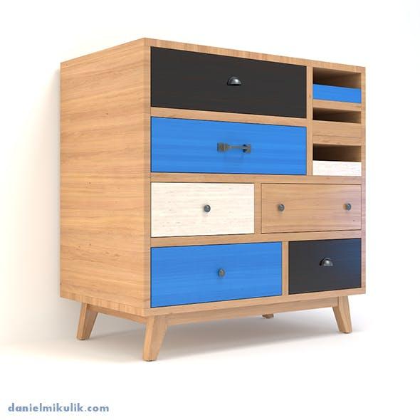Retro Cupboard 2 - 3DOcean Item for Sale