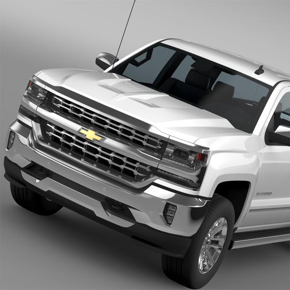 Chevrolet Silverado LTZ Crew Cab GMTK2 Short Box 2016 - 3DOcean Item for Sale