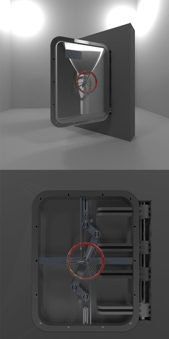 Bunker Door (Type C) - 3DOcean Item for Sale