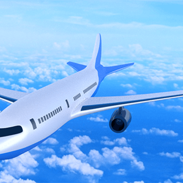 Textured Commercial Airplane