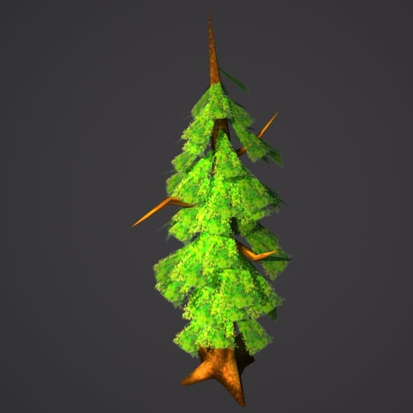 Low Poly Spring Tree Model