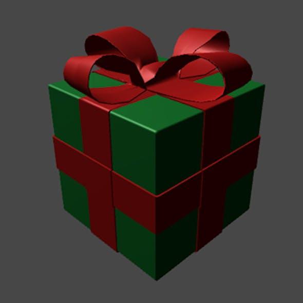 Simple Christmas Present Box