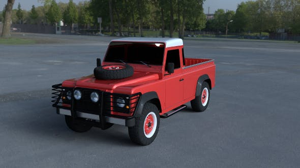 Land Rover Defender 110 Pick Up exterior HDRI - 3DOcean Item for Sale