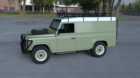 Land Rover Defender 110 Hard Top w interior HDRI - 3DOcean Item for Sale