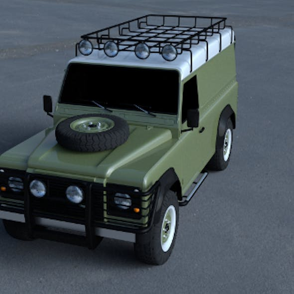 Land Rover Defender 110 Hard Top wo interior HDRI