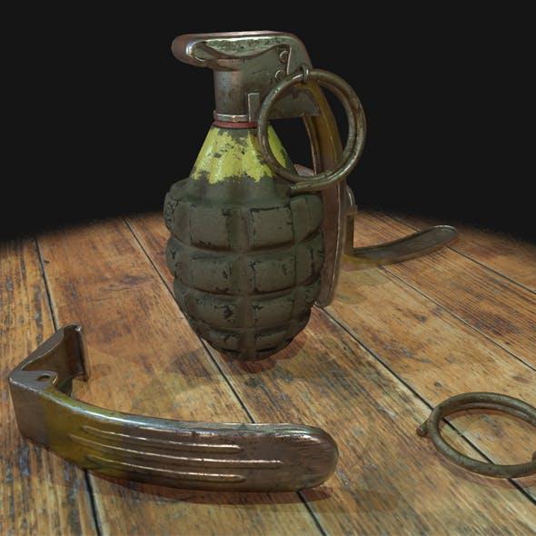 Grenade 3d model game mesh