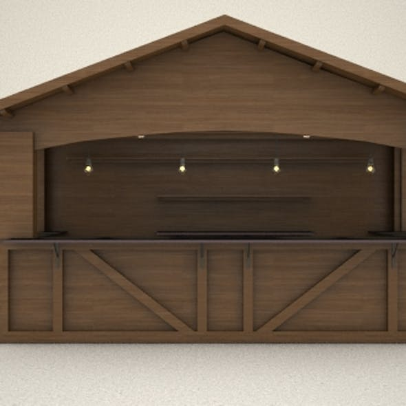 3D canopy Hut Low Poly