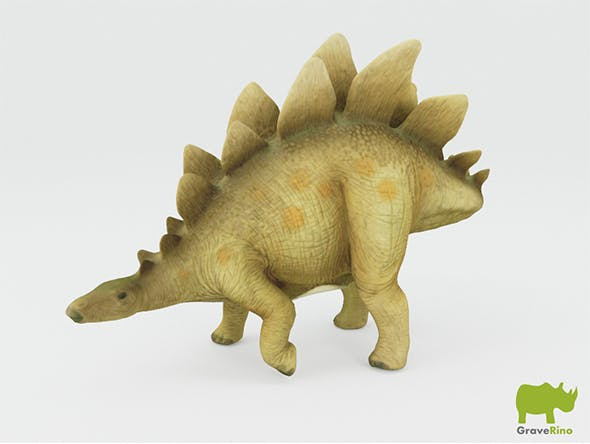Schleich Toy Stegosaurus - 3DOcean Item for Sale