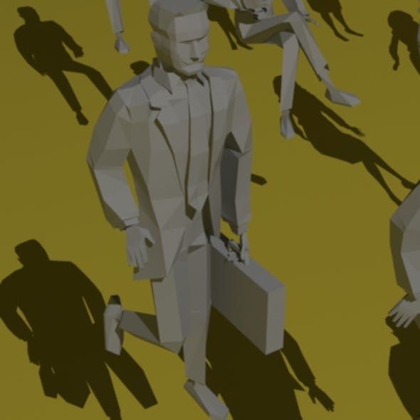 Low Poly Person - 3DOcean Item for Sale